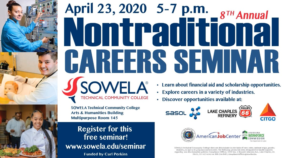 Nontraditional Careers Seminar flyer