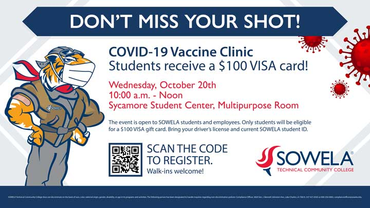 COVID-19 Vaccine Clinic @ Sycamore Student Center Multipurpose Room