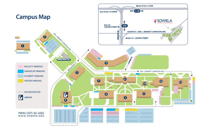 bennett college campus map Campus Map Sowela Technical Community College bennett college campus map
