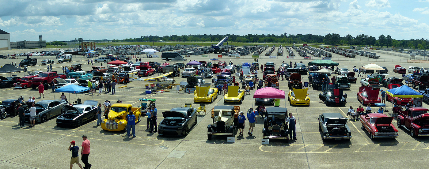 Parking lot at Annual Flying Tigers Car Show