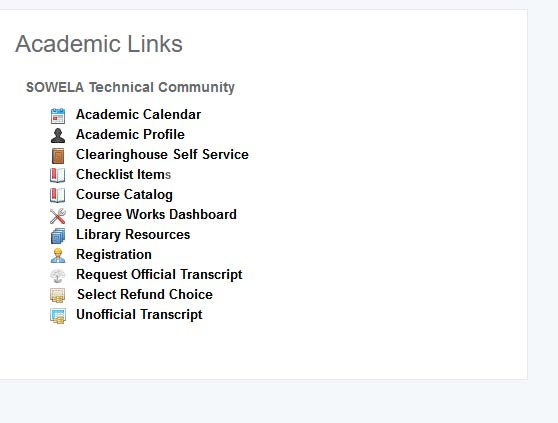 Image of LoLA Academic Links Section