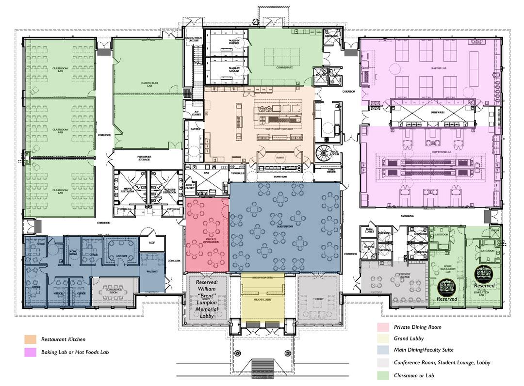 Floor plan for Hospitality Building