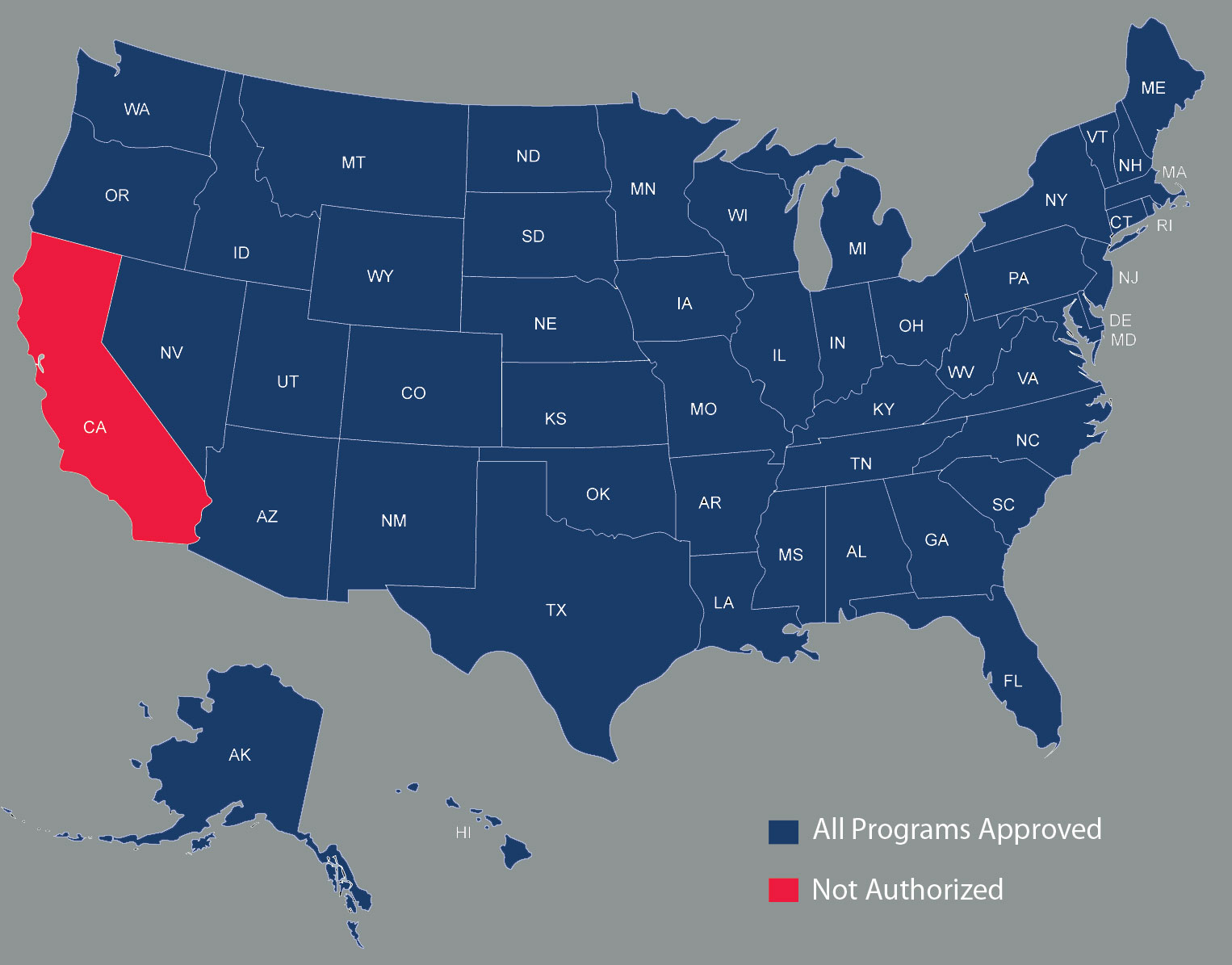 Online Program State Approval Map