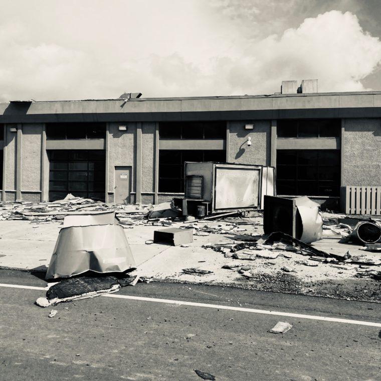 Hurricane Laura Damage-Welding building