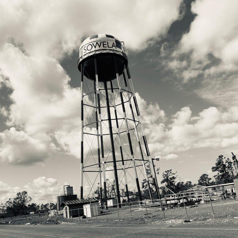Hurricane Laura Damage-Water tower